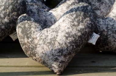 Custom heart shaped rock pillow