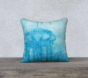 Water Tower Pillow